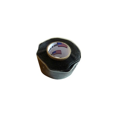 "Self-Fusing Silicone Rubber Tape - Black, 1"" x 10' Roll"