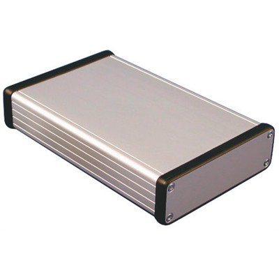 Aluminum Instrument Enclosure - 160 x 103 x 30.5mm - Aluminum / Metal ends