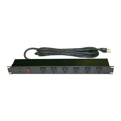 6 Outlet Power Bar (front), 15ft cord