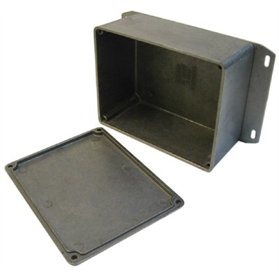 Diecast Aluminum Enclosure -120 x 94 x 53mm - Unpainted with Flange