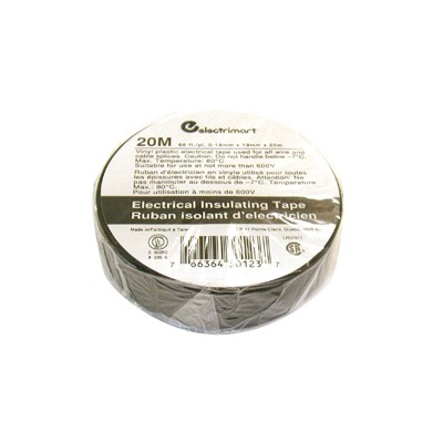 Electrical Tape - Black, 60ft, 10 Pieces