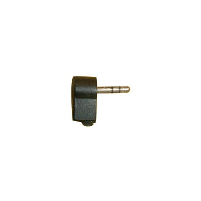 3.5mm Stereo Plug - Plastic, Right Angle, Black