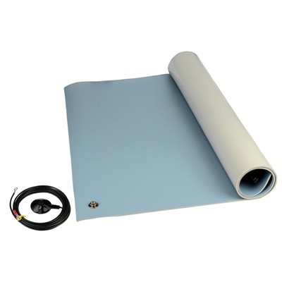 "3-Layer Vinyl Floor Mat Kit, Blue, 0.140"" x 48"" x 72"""
