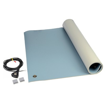 3-Layer Vinyl Mat Kit - Blue, 0.140 x 24 x 48""