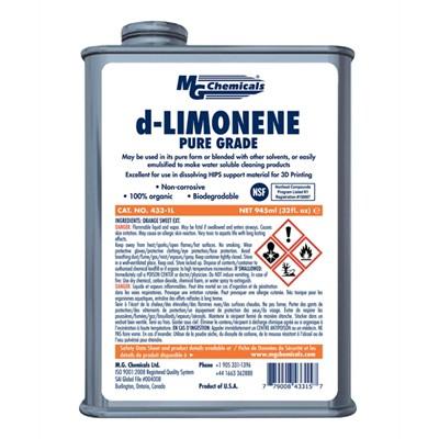 d-Limonene - HIPS Solvent, Industrial Strength, 1L