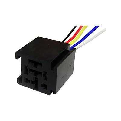 556611 Automotive Heavy Duty Relay Socket w Pigtail 5 Pin For