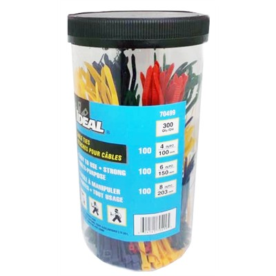 Cable Tie Kit - Multicolour, Pkg/300