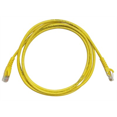 CAT5e RJ45 Patch Cable - 10ft Yellow