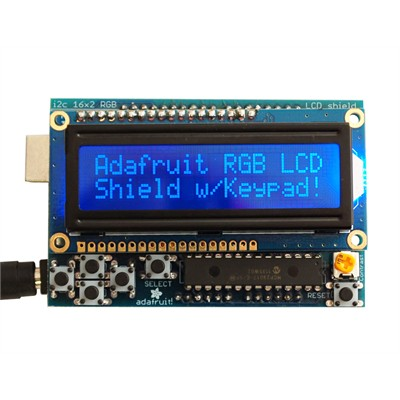 16x2 Backlit LCD Shield Kit - 2-pin