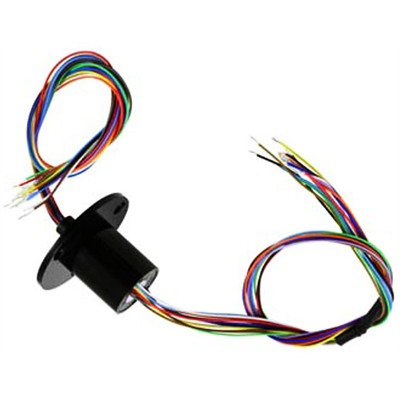 Slip Ring - 12 Wire, Flanged, 22mm