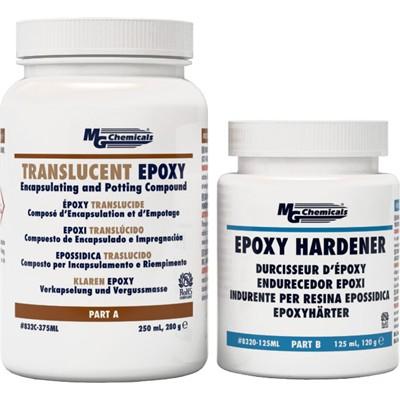 Translucent Potting Epoxy - 2 part, 2:1, 375mL