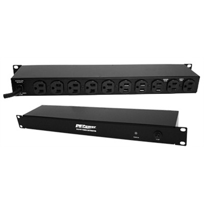 10 Outlet Rack Mount Power Distributor Bar - 15A