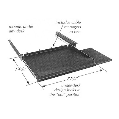 "21"" Computer Keyboard/Mouse Tray"