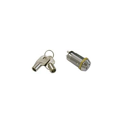 Key Switch - SPST 2A/12VDC, (ON)-OFF, Round Key