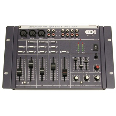 sx 100 4 channel mixer with digital echo tone control. Black Bedroom Furniture Sets. Home Design Ideas
