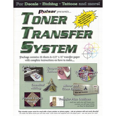 Tts 10 Toner Transfer Sheet Pkg 10