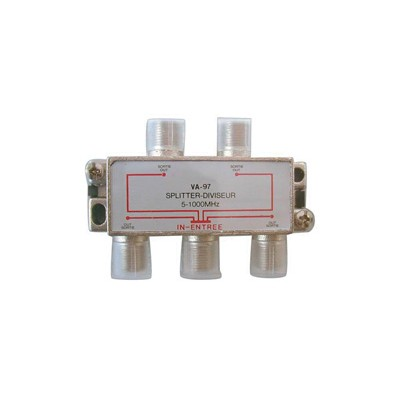 4 Way Splitter, 5-1000MHz - Deluxe