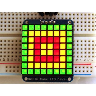 Adafruit Bicolour LED Square Pixel Matrix with I²C Backpack