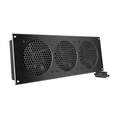 """AV Cabinet Cooling Fan System with Speed controller, 3 fans,18"""""""