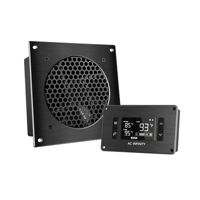 """AV Cabinet Cooling Fan System with LCD Thermal controller, 1 fan, 6"""""""