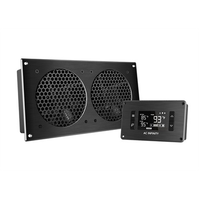 """AV Cabinet Cooling Fan System with LCD Thermal controller, 2 fans, 12"""""""