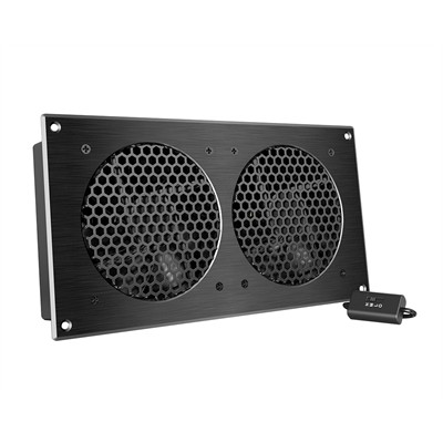 AV Cabinet Cooling Fan System with Speed controller, 2 fans, 12""