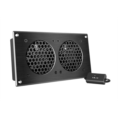 """AV Cabinet Cooling Fan System with Speed controller, 2 fans, 8"""""""