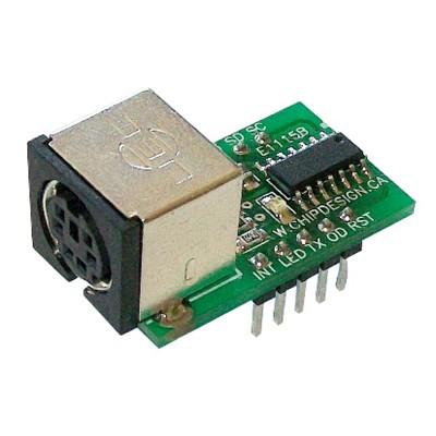 PS/2 Keyboard to ASCII Converter - 3.3V/5V TTL Output, 115.2k/57.6k