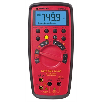 Amprobe 38XR-A True-RMS Digital Multimeter with Temperature