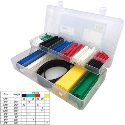 Heat Shrink Kit, 2:1 Color, 171 Pieces