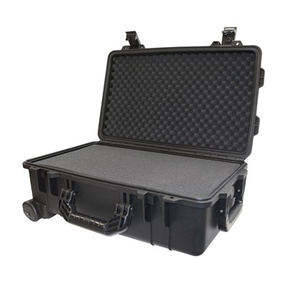 """Protective Case 1800 with foam, 21 x 14 x 8.8"""", Black, with Wheels"""