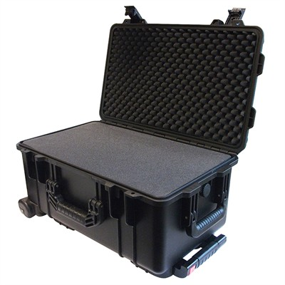 "Protective Case 2500 with foam, 22 x 14 x 11.4"", Black, With Wheels"