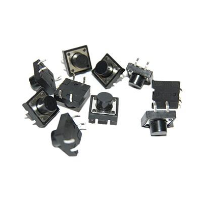 Push Button Switch - 12mm, Pkg/10