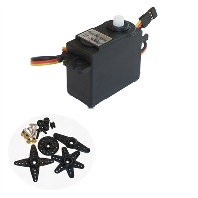 Servo Motor, Plastic Gears, 360 degrees