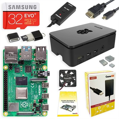 CanaKit - Raspberry Pi 4 4GB Starter PRO Kit - Premium Black Case