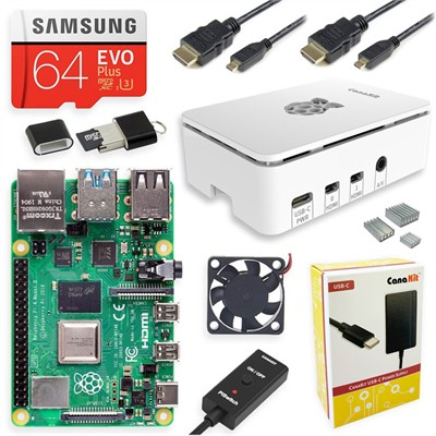 CanaKit - Raspberry Pi 4 8GB Starter MAX Kit - Premium White Case