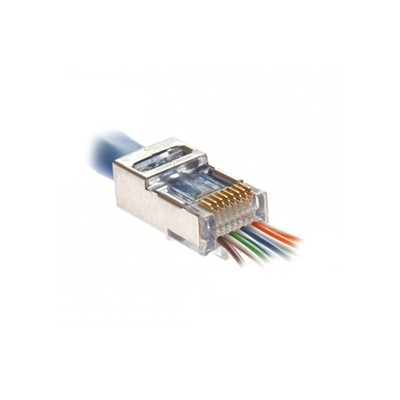 Shielded EZ-RJ45® for Cat5e/Cat6 - Internal Ground, 10/Pkg