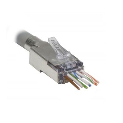 ezEX®48 Shielded, External Ground, CAT6A Connector, Pkg/25