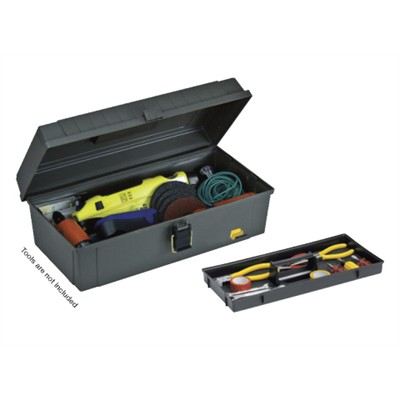 """Toolbox, 15"""", with tray, Grey"""