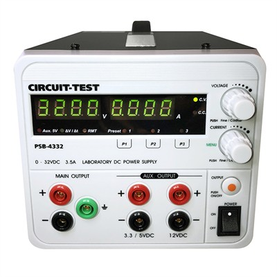 Triple Output - Linear (32VDC/3.5A, Fixed 3.3 or 5VDC @0.8A & 12VDC @0.8A), Remote Programmable