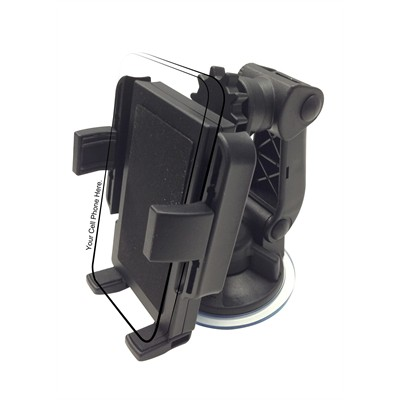 PortaGrip Cell Phone Holder w/ Suction Cup Mount
