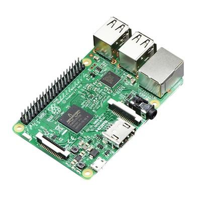 Raspberry Pi 3 Model B, 1.2GHz 64-Bit Quad-Core, 1GB RAM, 802.11n WIFI, BLE 4.0