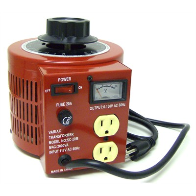 Variac with Meter - 20A, 2000 Watt