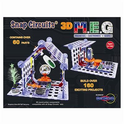 Snap Circuits - 3D M.E.G. (Magnetics- Electronics-Gears)