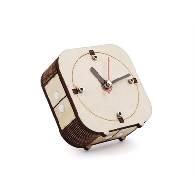 Counter-Clockwise Wooden Clock Kit