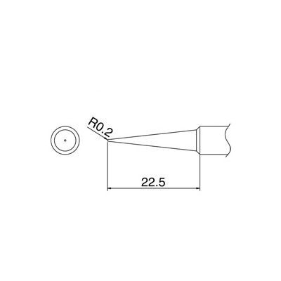 Tip for Hakko FX888D - Conical 0.2 x 22.5mm
