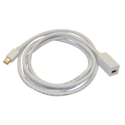 Mini DisplayPort M/F, 6ft